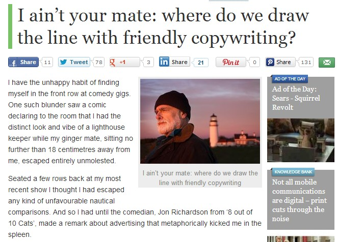 A very nice copywriting post
