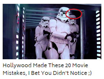 Clickbait headline example about movies