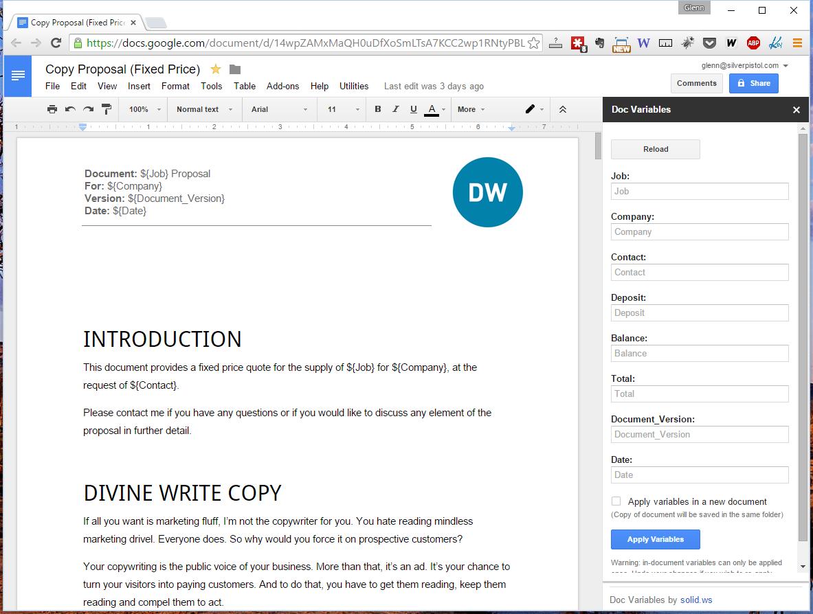 My new copywriting proposal process