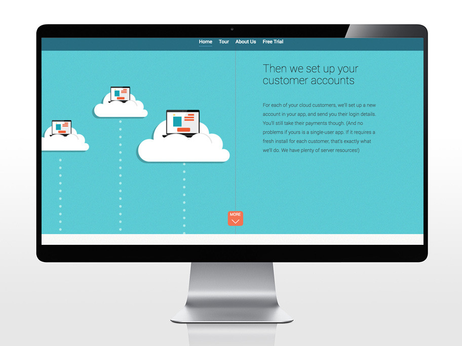 Cloudify web app service design sample 3 for portfolio